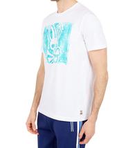 Men's Psycho Bunny Short Sleeve Haley Graphic Tee Skull Logo White T-Shirt image 5