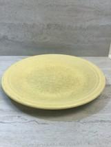 "Fiesta Homer Laughlin Sunflower Yellow 10.5"" Dinner Plate, USED Small Sand Bump - $19.79"
