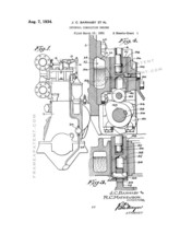 Internal Combustion Engine Patent Print - White - $7.95+