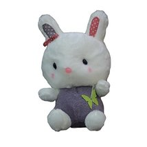 Sitting Bunny Plush Dolls Car Decors Bamboo Charcoal Auto Ornaments,PURPLE,9.8''