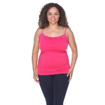Plus Size Lace Trim Tank Top - Fuchsia - $14.99