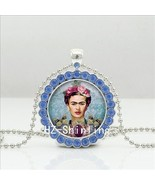 2017 New Frida Kahlo Crystal Necklace Glass Frida Kahlo Photo Pendant Je... - $5.92