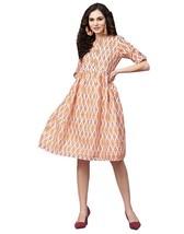 Jaipur Kurti Latest Fashion Top KurtisEmbroidered A-Line Chanderi Dress - €33,13 EUR