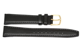 20 PCS 18mm Black Stitched Clik On Genuine LEATHER WATCH BAND STRAP - $14.84