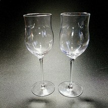 """2 (Two) TIFFANY & CO Fine Crystal Cordial Glasses 6 7/8"""" T  by 2"""" W - Si... - $21.38"""