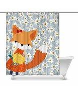 InterestPrint Cute Baby Fox in Spring Summer Daisy Flower House Decor Sh... - $30.68