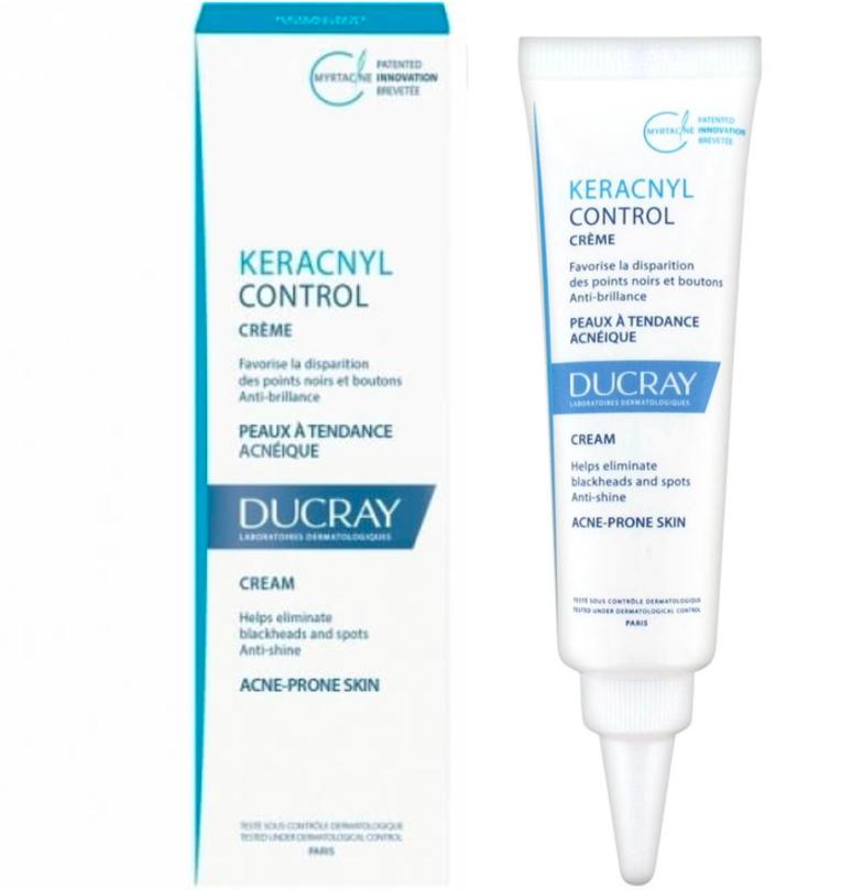 Ducray Keracnyl Control Cream Acne Prone Skin, Against SPOTS 30ml US Seller