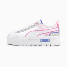 Puma mayze Tech Woman Shoes Leather White and Pink - $190.47