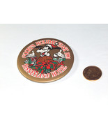 """1991 Goofy's Holiday Feast 3"""" Disneyland Hotel Round Pin Back Button - $9.37"""
