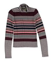 Aeropostale Womens Striped Turtleneck Pullover Sweater Red L - Juniors - $14.65