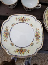 6 Square Salad Plate in Victoria (Floral Basket) by Johnson Brothers - $24.70