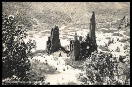 Cathedral Rocks Real Photo Postcard Colorado Garden of the Gods CO RPPC - $15.99