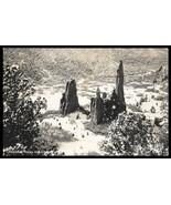 Cathedral Rocks Real Photo Postcard Colorado Garden of the Gods CO RPPC - $15.99