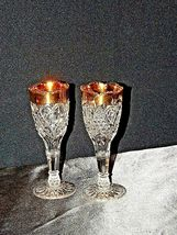 Vintage Medium weight Cut Glass Goblets with Detailed DesignAA19-LD11926 image 6