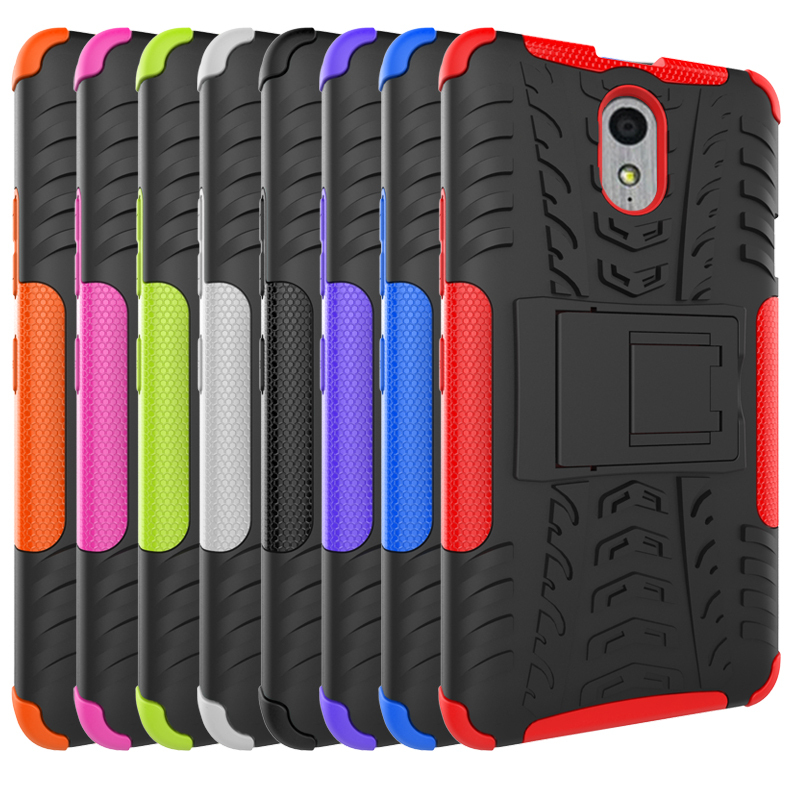 Protection Rugged Dual Layer Hybrid Shockproof Case For Lenovo P1M - Hot pink