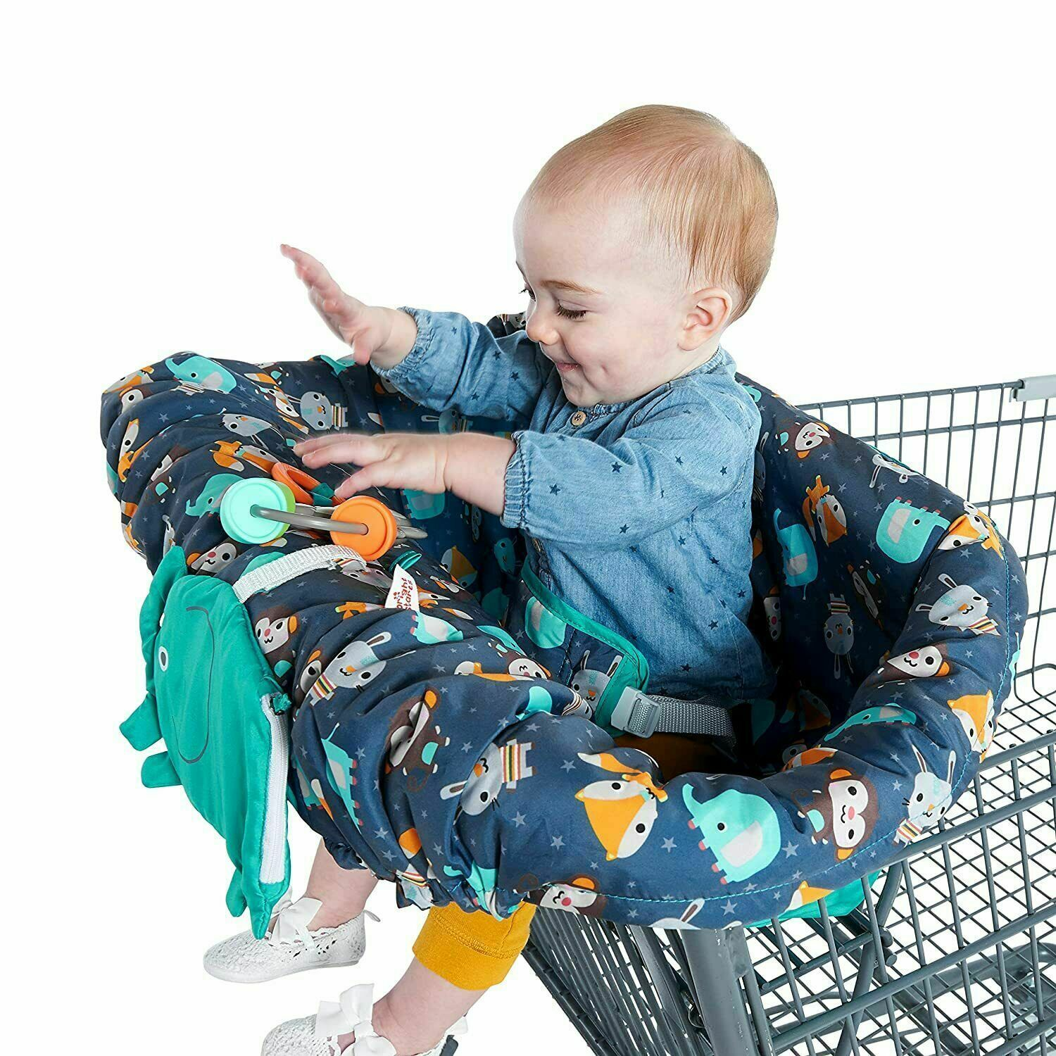 Primary image for Bright Starts Ultra Cozy Shopping Cart or High Chair Cover, Animal Pattern
