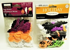 Set of 3 Packs of Halloween Foam Stickers, 240 Foam Stickers!