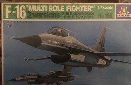 Italeri F-16 A/B 1/72 scale model kit, multi-role fighter, No 130 - $7.92