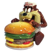 Looney Tunes Taz Eating a Burger Ceramic Salt and Pepper Shakers Set, NE... - $26.11