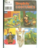 Simplicity 8814 Toddlers Children's Costumes Bubble Bee Dog Spaceman 6mo... - $10.47