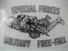 """Decal, (2) US Army Specia Forces  -HALO -Freefall 7""""x4"""" - $10.10"""