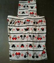 Disney Women's Pajamas Pants Size M Mickey Minnie Mouse Snowflakes PJ's ... - $11.23