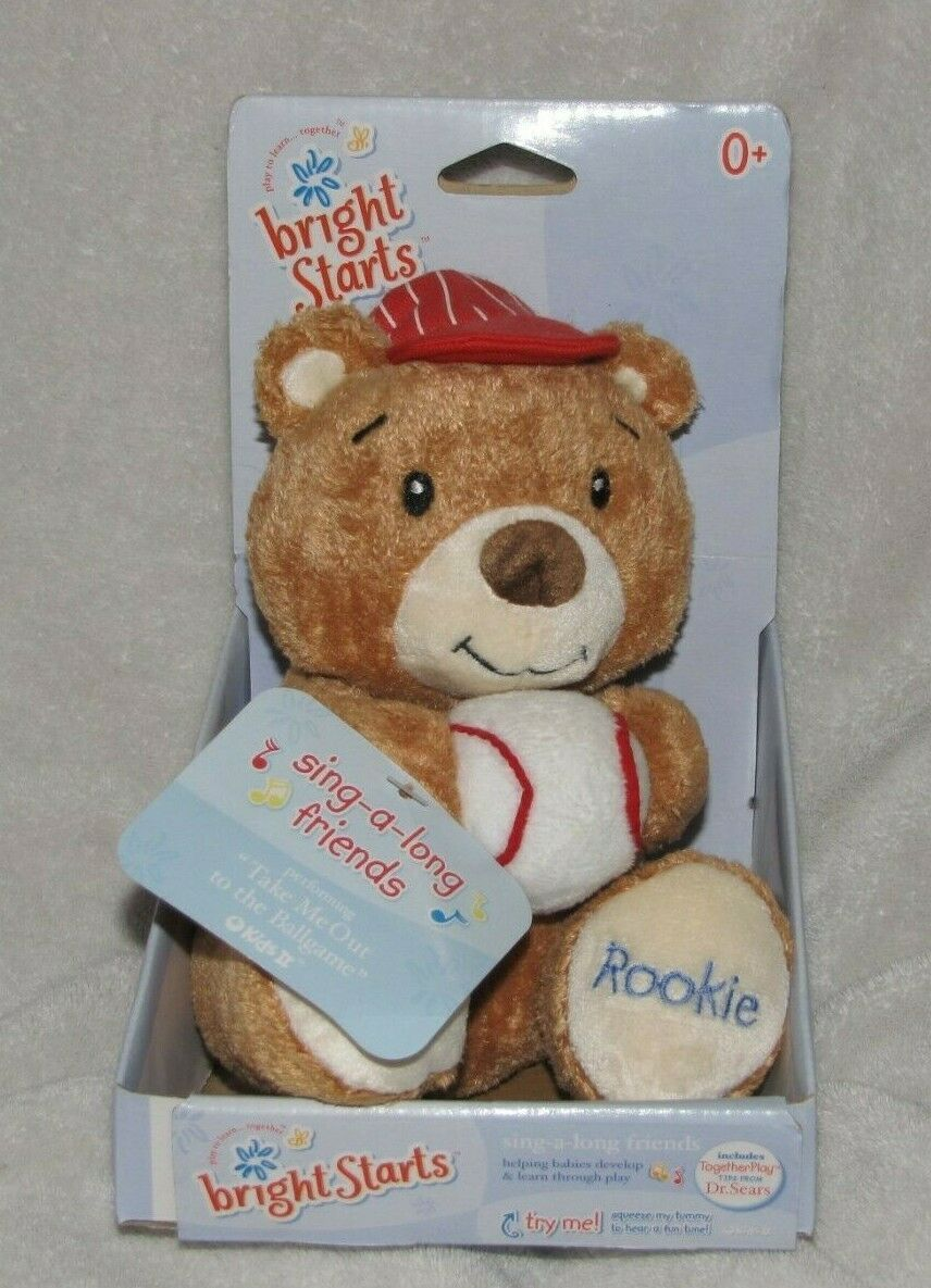 Primary image for Bright Starts Kids II Rookie Teddy Bear Stuffed Plush Baseball Take me out to