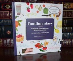 Foodimentary Signed John Bryan Hopkins Classic Recipes New Hardcover 1st... - $39.99