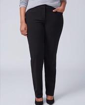 Lane Bryant 26 28 LONG Sophie Tailored Stretch Straight Leg Pant T3 Tech... - $30.97