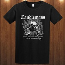 CANDLEMASS tee doom metal band Therion Solitude Aeturnus Cotton Men's T-... - $13.99+