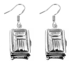 NICE Travel Suitcase Luggage case bag Sterling silver 925 Earrings Jewel... - $27.66
