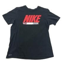 Nike Bsbl Camiseta Hombre Manga Corta Negra Béisbol Logo Grande Hechizo Pierdas - $18.95