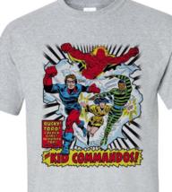 The Invaders Kid Commandos T-shirt vintage 1970's marvel comics silver age tee image 2
