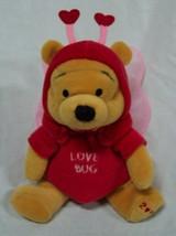 "Walt Disney 2000 WINNIE THE POOH BEAR LOVE BUG 5"" Bean Bag STUFFED ANIMAL - $14.85"