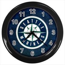 Seattle Mariners Wall Clock (Black) - MLB Baseball - $17.41