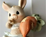 Somebunny Cares Easter Carrot Rabbit Precious Moments 1988 Members Only Figurine