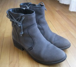 Sperry Top Sider Juniper Glyn Boot Ankle Bootie Womens 8.5 Gray Leather Zip - $48.37