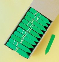 """100 Green Plastic Plant Stakes / Labels / Nursery Tags - Made in USA - 4"""" X 5/8"""" - $12.38"""