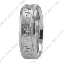 14 SOLID WHITE GOLD MILGRAIN MENS WOMENS WEDDING BANDS RINGS HIS & HERS ... - $372.13