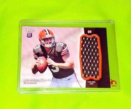 Nfl Brandon Weeden Cleveland Browns 2012 Topps Rookie GAME-WORN Jersey Mint - $2.42