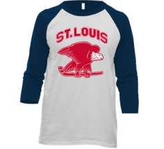 St. Louis Eagles Defunct Nhl Hockey Team Retro Vintage Navy Raglan Shirt - $19.99