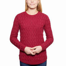 Jeanne Pierre Crew Neck Sweater ~ Women's Size LARGE ~ Red Currant Colored - $29.70