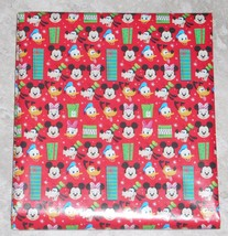 American Greetings Disney Mickey Mouse Christmas Wrapping Paper 20 SQ FT... - $4.75