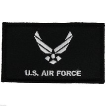 AIR FORCE 2 X 3  EMBROIDERED MILITARY LOGO  PATCH WITH HOOK LOOP - $15.33
