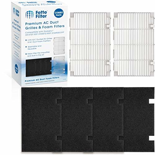 Fette Filter - Ducted Air Grille Duo-Therm AC Filter Cover Compatible with Domet