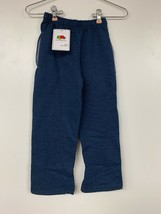 Fruit Of The Loom Boy's Fleece Trailblazer Open Bottom Pant, Blue, XS/4–5 - $7.38