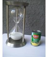 Large Hour Glass Sand Timer Aluminum Metal Home Decor  - $63.95