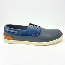 Lacoste Arverne 6 SRM Leather Suede Grey Blue Mens Loafer Boat Shoes - $69.95