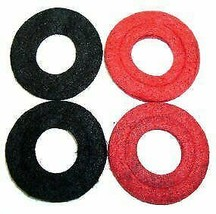 Battery Anti Corrosion Washers 2 Red and 2 Black (Pack of 4)