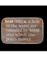 Wooden Sign Boat Definition Man Cave Humor 1970s Nautical - $15.84
